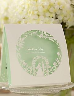"""Unpersonalisierte Oberseite gefaltet Hochzeits-Einladungen Einladungskarten Klassicher Stil Kunstpapier 6""""×6"""" (15*15cm)"""