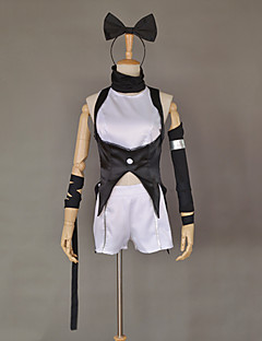 Inspirovaný RWBY Blake Belladonna Anime Cosplay kostýmy Cosplay šaty Patchwork Biały / CzarnyKabát / Kraťasy / Vlasové ozdoby /