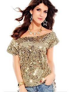 Séduisante Off-épaule de femmes de scintillement Sequin Top