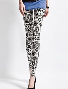 kvinners mote spandex totem utskrift retrostyle leggings