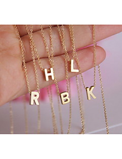Dames Hangertjes ketting Legering Modieus Initial Jewelry Eenvoudige Stijl V W X Y Z Sieraden Feest Dagelijks Causaal 1 stuks