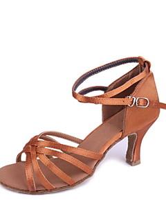 Satin classique Cinq Stripe Croix danse Chaussures femme personnalisé pour les sandales latine / Salle de bal