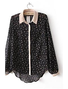비비 로저 여자의 소형 전단 긴 소매 시퐁 셔츠 (화면 색상)