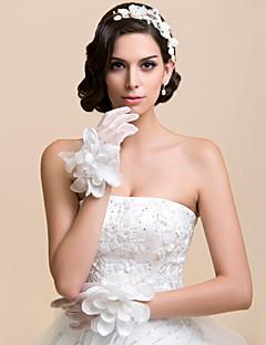 Wrist Length Fingertips Glove Net Bridal Gloves / Party/ Evening Gloves Spring / Fall / Winter Floral