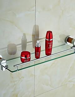 Natural Marble Brass Glass Shelf