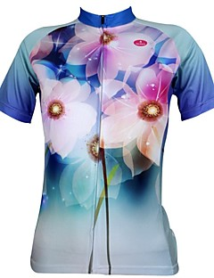 ILPALADINO Cycling Jersey Women's Short Sleeve Bike Breathable Quick Dry Ultraviolet Resistant Jersey Tops 100% Polyester Spring Summer