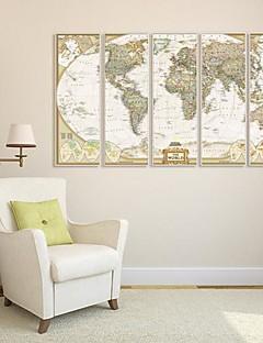 Abstract Pânză Înrămată / Set Înrămat Wall Art,PVC Alb Fără Rogojină cu Frame Wall Art