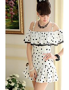 DABUWAWA hjgh cintura Dots Skirt-12