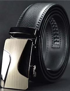 Mænds Fashion High Grade Automatisk Buckle Leather Belt