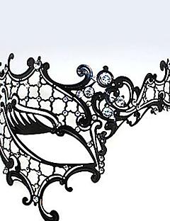 Cyclops Style Metal Hollow Deluxe Karnaval Masquerade elmas taklidi Maskesi