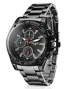 Men's Racing Style Dress Watch Black Alloy Quartz Wrist Watch Cool Watch Unique Watch Fashion Watch
