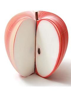 Æble Formet Genbrugs Papir Noterblok Post-It Papir Memo (Rød)