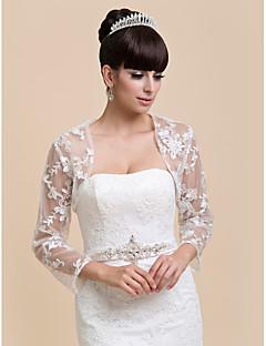 superbe demi dentelle à manches soir / mariage wrap / veste de soirée (plus de couleurs) bolero haussement
