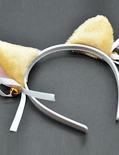 Smycken / Huvudbonad Inspirerad av Cosplay Cosplay Animé Cosplay Accessoarer Headband Vit / Svart / Gul Kvinna / Barn