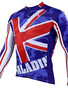 ILPALADINO Cyklodres Pánské Dlouhé rukávy Jezdit na kole Dres Vrchní část oděvu Zahřívací Rychleschnoucí Odolný vůči UV záření Prodyšné