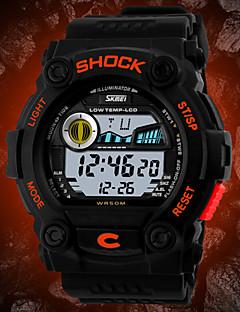 Herren Armbanduhr digital LCD / Kalender / Chronograph / Wasserdicht Caucho Band Schwarz Marke- SKMEI