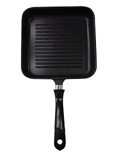 padnigr ® Gusseisen Grill Pfannen mit Griff, w15cm xl24cm