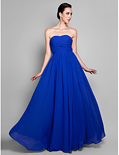 TS Couture® Prom / Formal Evening / Military Ball Dress - Elegant Plus Size / Petite A-line Sweetheart Ankle-length Chiffon with Draping / Ruching