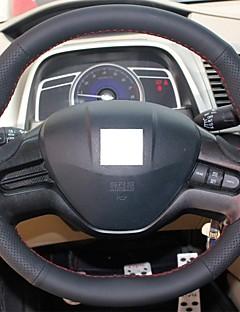 Cubierta del volante del cuero genuino Xuji ™ Negro para Honda Civic 2006-2009 Antiguo Cívica