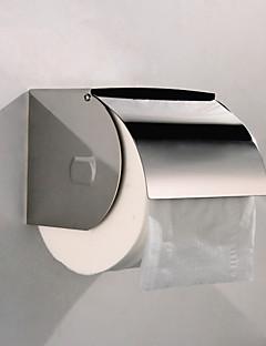 Latão de parede suporte de papel higiênico semi-fechado