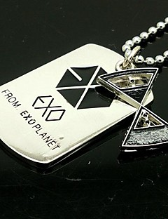 EXO YAO Time Control Hourglass Pattern Alloy Necklace
