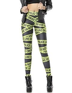 De pinkqueen® vrouwen spandex groene letter gedrukt leggings