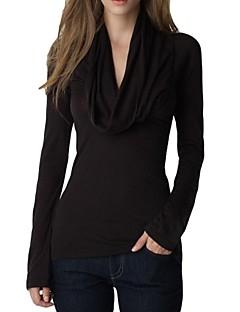 Women's Cowl Long Sleeve T-shirt