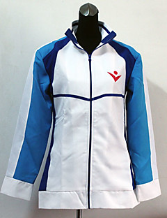 Inspired by Free! Haruka Nanase Anime Cosplay Costumes Cosplay Tops/Bottoms Patchwork White Long Sleeve Coat