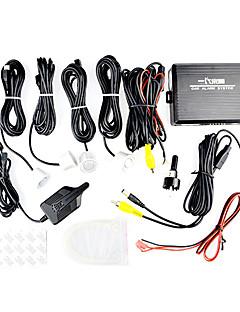 Parking Sensor with 4 Radar+Display+Buzzer (037,Black)