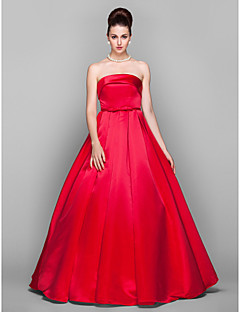 TS Couture® Formal Evening / Prom / Military Ball Dress - Ruby Plus Sizes / Petite Ball Gown Strapless Floor-length Satin