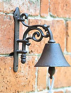 Retro American Country Style Minimalist Veggmontert Cast Iron Door Bell