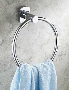 Chrome Finish Bathroom Brass Round Towel Rings