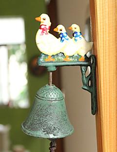 Nordic Village Vintage Smijern Rooster Three Swans Type Type Door Bell