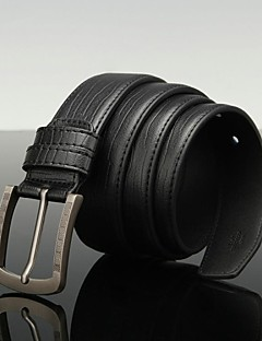 Menns Pin Buckle Fritid Leather Belt