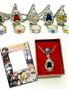 תכשיטים קיבל השראה מ Puella Magi Madoka Magica קוספליי אנימה אביזרי קוספליי שרשרת אדום / צהוב / כחול / סגול / ירוק / ורוד סגסוגת נקבה