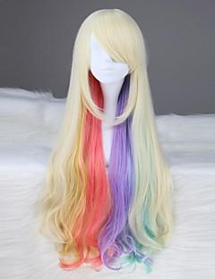 VOCALOID mayu långa vågiga Syntetisk Flera färger anime Cosplay Wig