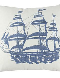 Nautical Segelbåt Bomull / Lin Dekorativa Kuddfodral