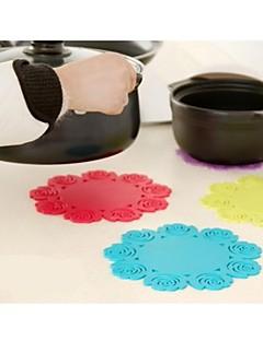 Circulaire tapis de petite taille Fleur de forme (couleur aléatoire)