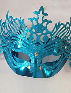 Venice Queen Glitter Blue Women's Carnival Masquerade Party Mask