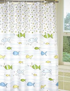 素敵な漫画バブル魚シャワーカーテン
