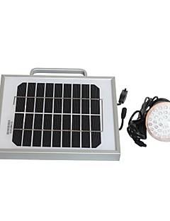 2W Solar Lighting System och mobiltelefon Laddare USB-utgång