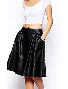 женская PU случайные женский бюст юбки