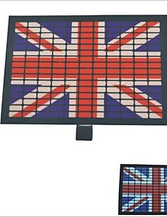 Pára-brisas Carking ™ Control Car Light Music Sticker-bandeira britânica Equalizador flash (2 * AAA)