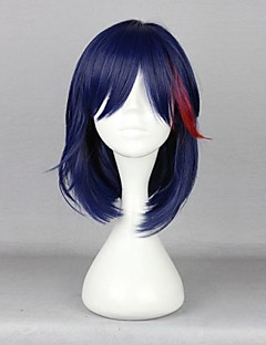 Cosplay Wigs KILL la KILL Cosplay Blue Medium Anime Cosplay Wigs 42 CM Heat Resistant Fiber Male