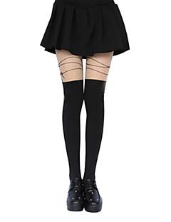 Sokker og Nylonstrømpe Klassisk og Traditionel Lolita Lolita Lolita Sort Lolita Tilbehør Strømper Trykt mønster For Dame Polyester