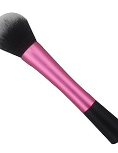 1pc Pink Super Soft Synthetic Hair Powder Brush