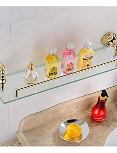Ti-PVD Concluir Antique Brass material prateleira de vidro