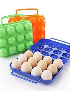 12 gürtet Kunststoff Ei-Boxen (gelegentliche Farbe)