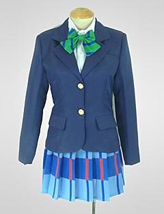 Inspirado por Amar viver Niko Yazawa Anime Fantasias de Cosplay Ternos de Cosplay Patchwork Azul Manga Comprida Casaco / Camisa / Saia