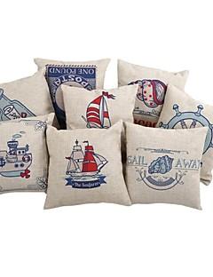 "Createforlife ® 18 ""Set of 8 Blue Sea Voyage Örngott Kudde"